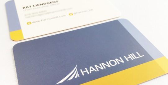 Hannon Hill - Business Card Design