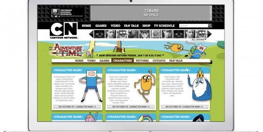 Cartoon Network Website Design